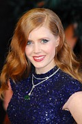 Wavy Hair Photos - Amy Adams Wearing A Cartier Necklace by Everett