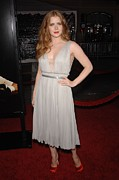 Satin Dress Prints - Amy Adams Wearing A J. Mendel Dress Print by Everett