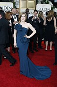 Strapless Dress Prints - Amy Adams Wearing A Marchesa Gown Print by Everett
