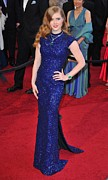 Purple Dress Posters - Amy Adams Wearing Lwren Scott Dress Poster by Everett