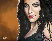 Singer  Paintings - Amy Lee by Tom Carlton