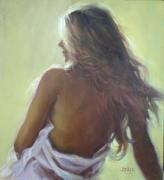 Original Oil Paintings - Amy No.3 by Pauline Adair