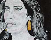 Charts Paintings - Amy Winehouse by Horace Cornflake