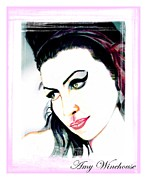 Bono Digital Art - Amy Winehouse by Liam O Conaire
