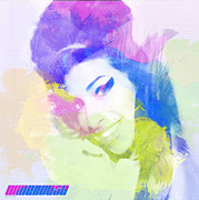 Pastel Digital Art - Amy Winehouse by Irina  March