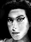 Amy Winehouse Print by Penny Ovenden