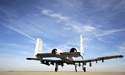 Whiteman Prints - An A-10 Thunderbolt Ii Taxies Print by Stocktrek Images