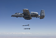 Paveway Posters - An A-10c Thunderbolt Releases Two Poster by HIGH-G Productions