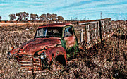 Time Passages Framed Prints - An Abandoned Truck Framed Print by Tommy Anderson