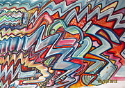Graffiti Art Painting Originals - An Abrasive Remark by Steven Holder
