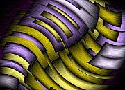 Featured Digital Art Metal Prints - An Abstract Slope Metal Print by Terry Mulligan