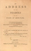 Antislavery Art - An Address To The Negros In The State by Everett