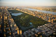 Skylines Metal Prints - An Aerial View Of Central Park Metal Print by Michael S. Yamashita