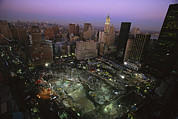 Commercial Structures Framed Prints - An Aerial View Of Ground Zero Framed Print by Ira Block