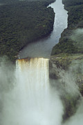 Guyana Prints - An Aerial View Of Kaitur Falls Print by Bill Curtsinger