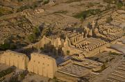 Amun Photo Posters - An Aerial View Of The Large Temple Poster by Michael Poliza