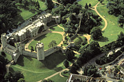 Historical Housing Prints - An Aerial View Of Warwick Castle Print by Richard Nowitz