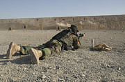 Firing Range Prints - An Afghan Commando Engages Training Print by Stocktrek Images
