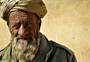 Mustache Framed Prints - An Afghan Elder From Zabul Province Framed Print by Stocktrek Images