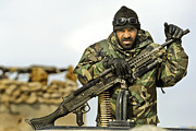 Afghan National Army Framed Prints - An Afghan National Army Soldier Framed Print by Stocktrek Images