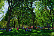 Nyc Digital Art Metal Prints - An Afternoon in Washington Square Park Metal Print by Randy Aveille