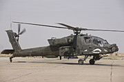 Rotor Blades Art - An Ah-64 Apache Helicopter by Terry Moore