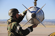 Paveway Posters - An Airman Ensures A Gbu-31 Joint Direct Poster by Stocktrek Images