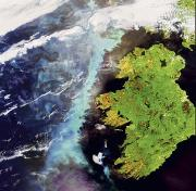 Satellite Views Posters - An Algae Bloom Off The Coast Of Ireland Poster by Esa
