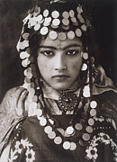 Period Clothing Prints - An Algerian Girl Wears A Dowry Of Gold Print by Lehnert & Landrock