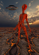 Paranormal  Digital Art - An Alien World Where Its Native by Mark Stevenson