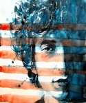Bob Dylan Painting Prints - An American icon Print by Paul Lovering