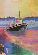 Carol Pastels - An American Tug by Carol Thompson