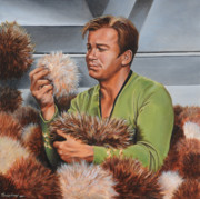 Captain Kirk Painting Posters - An Amusing Predicament Poster by Kim Lockman