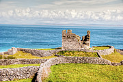 Aran Islands Framed Prints - An Ancient Irish Castle Framed Print by Natasha Bishop
