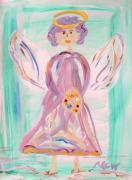 Visionary Art Drawings - An Angel of Vision by Mary Carol Williams