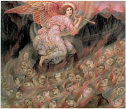Souls Painting Prints - An Angel Piping to the Soulds in Hell Print by Evelyn De Morgan