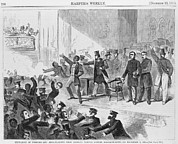 Slavery Framed Prints - An Angry Mob Broke Up A Meeting Framed Print by Everett