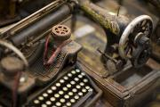 Typewriters Photos - An Antique Typewriter And Sewing by David Evans