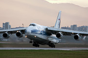 Antonov Framed Prints - An Antonov An-124 Aircraft Taking Framed Print by Anton Balakchiev