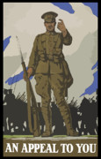 World War One Framed Prints - An Appeal To You Framed Print by War Is Hell Store