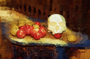 Treatment Painting Prints - An Apple a Day Did Not Work Print by Clarence Alford