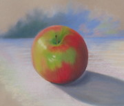 Apple Pastels Prints - An Apple A Day Print by Shirley Galbrecht