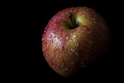 Purchase Prints - An Apple with Waterdrops Print by Zoe Ferrie