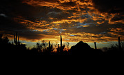 Monsoon Posters - An Arizona Desert Sunset  Poster by Saija  Lehtonen