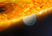 Solar Eclipse Digital Art Posters - An Artists Impression Of A Jupiter-size Poster by Stocktrek Images