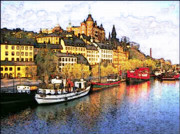Sweden  Digital Art - An Aspect Of Stockholm. by Terry Collett