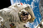 Outer Space Photos - An Astronaut Mission Specialist by Stocktrek Images