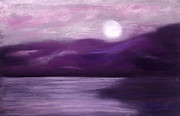 Full Moon Pastels - An Aubergine Moment by Diana Tripp
