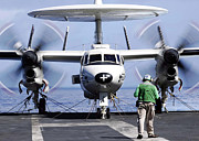 Electronics Photos - An E-2c Hawkeye Aboard The Aircraft by Stocktrek Images