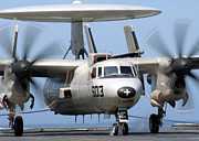 Electronics Photos - An E-2c Hawkeye Conducts An Arrested by Stocktrek Images